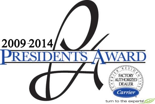 Carrier President's Award 2009-2014